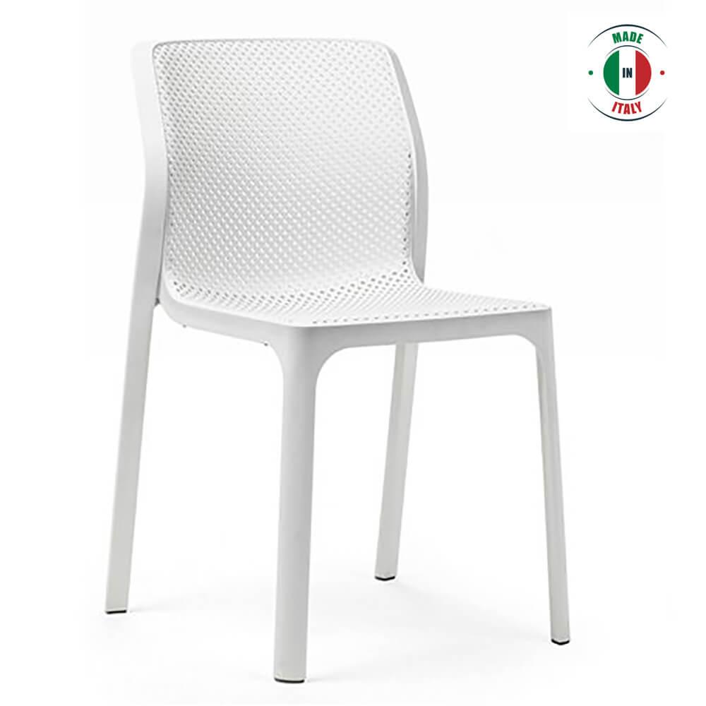 Awe Inspiring Benin White Outdoor Dining Chair Ibusinesslaw Wood Chair Design Ideas Ibusinesslaworg