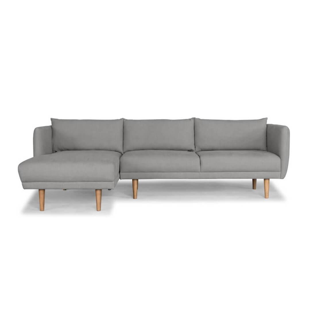 Largos Lhf 3 Seater Chaise Ludo Grey Lounge Amp Living