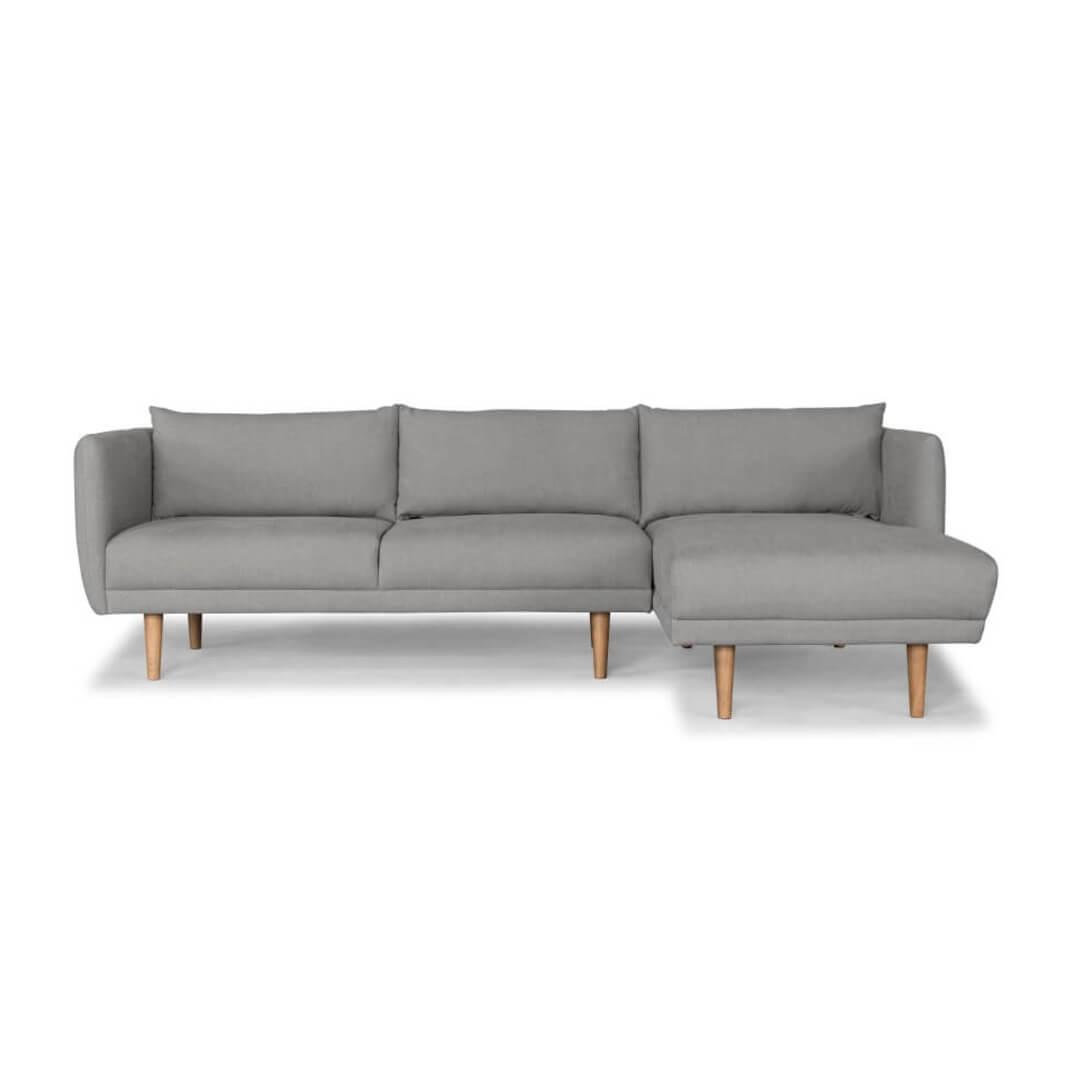 Largos Rhf 3 Seater Chaise Ludo Grey Lounge Amp Living