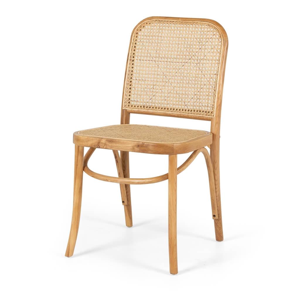 HOFFMAN OAK CHAIR RATTAN SEAT